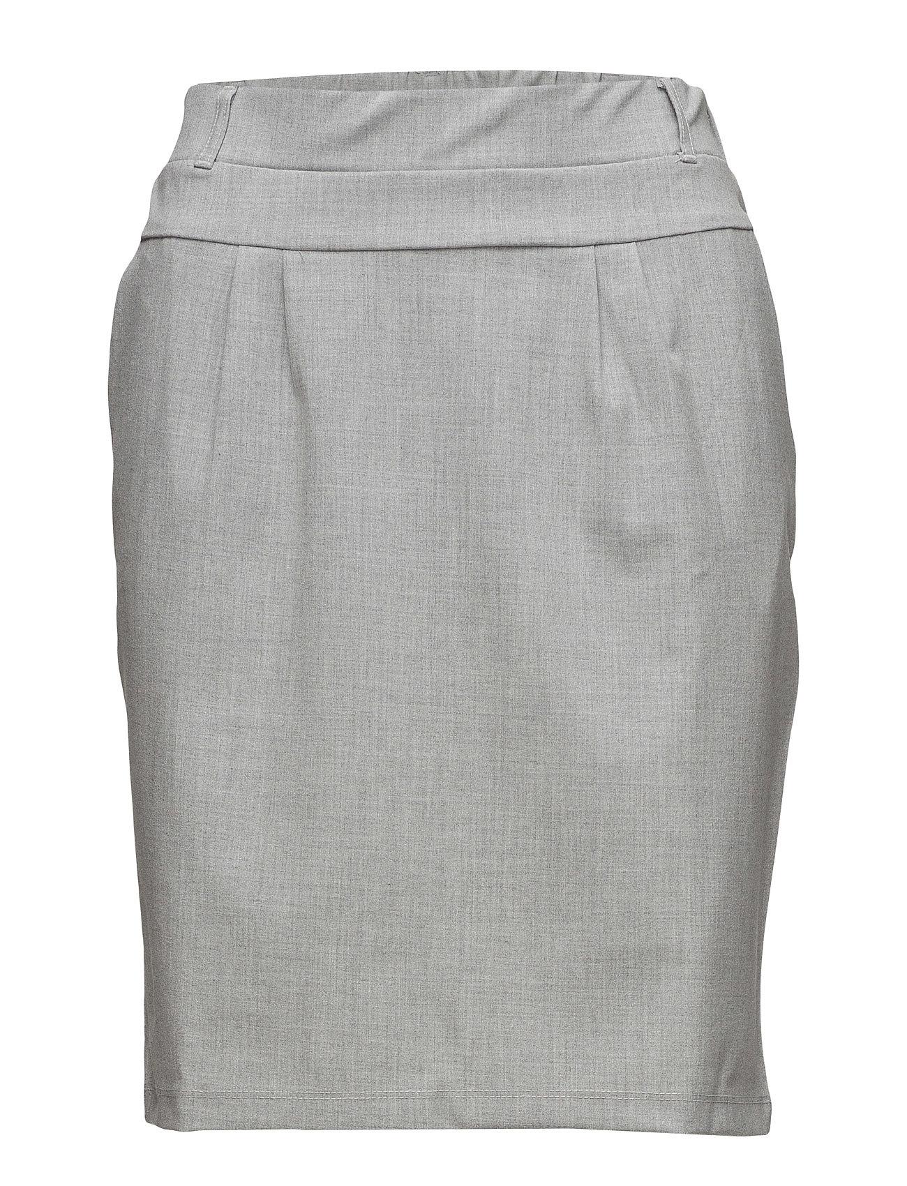 Kaffe Jillian Skirt - LIGHT GREY MELANGE