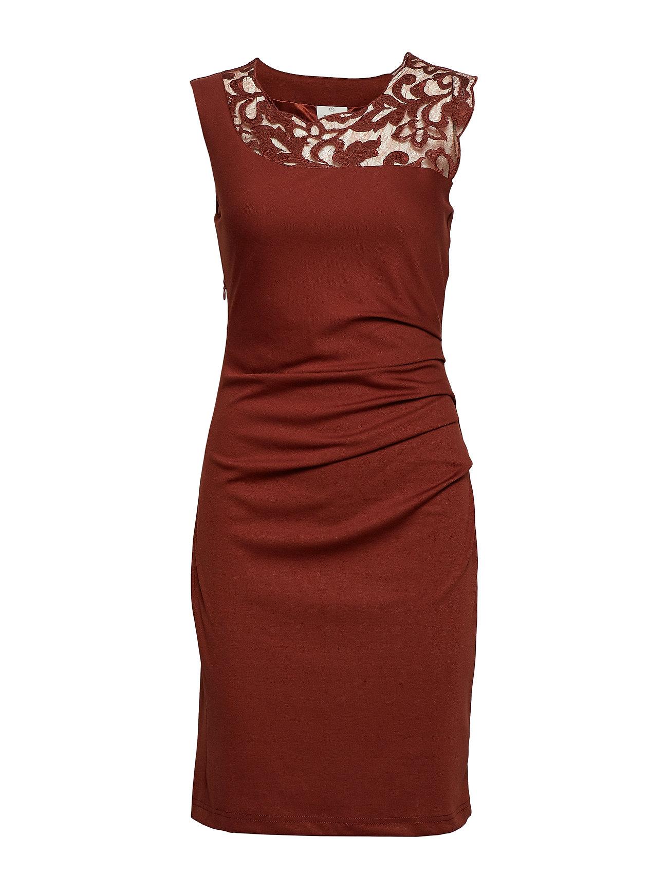 Kaffe India Vivi Dress - CHERRY MAHOGANY