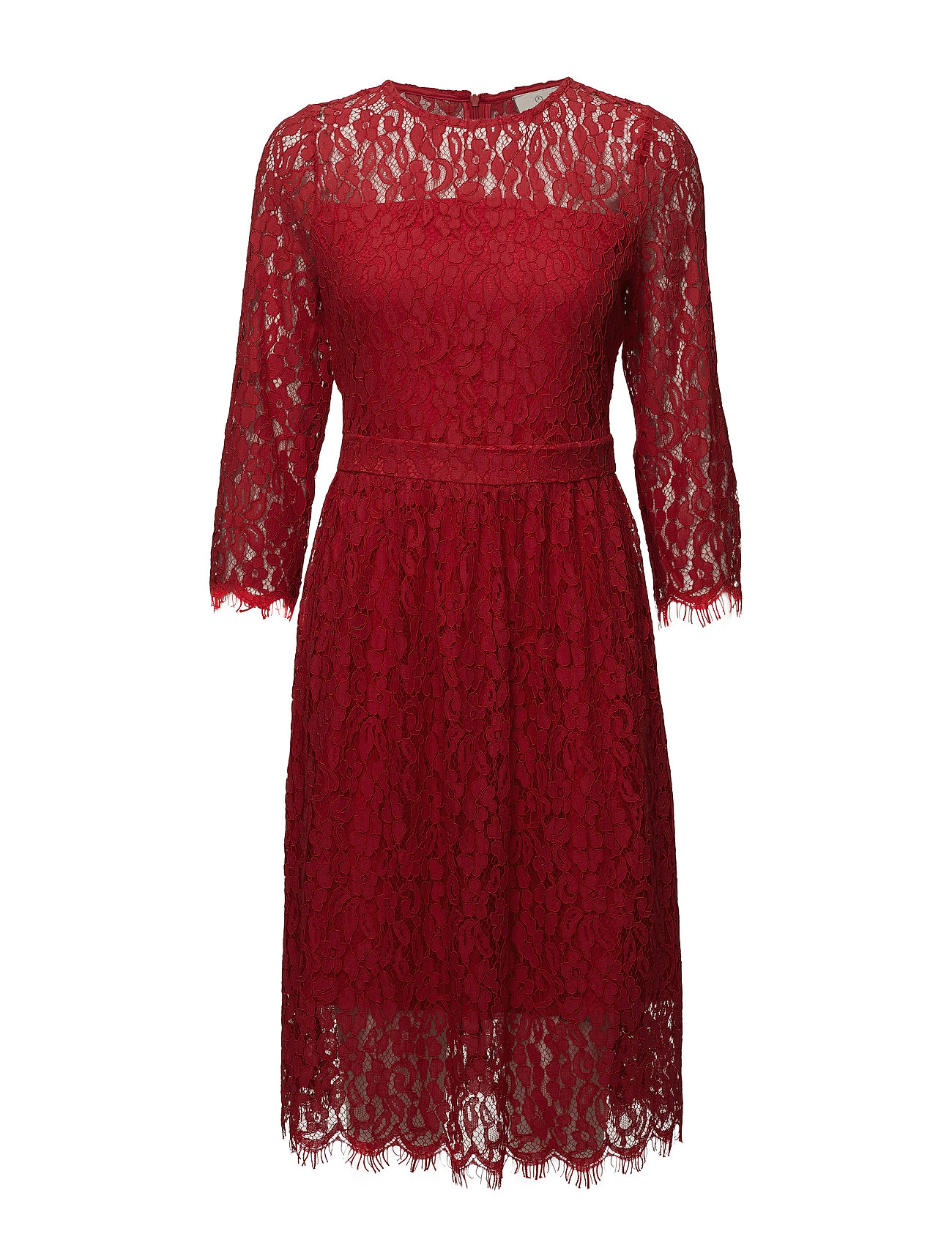 Kaffe Sille Dress - FLAME SCARLET