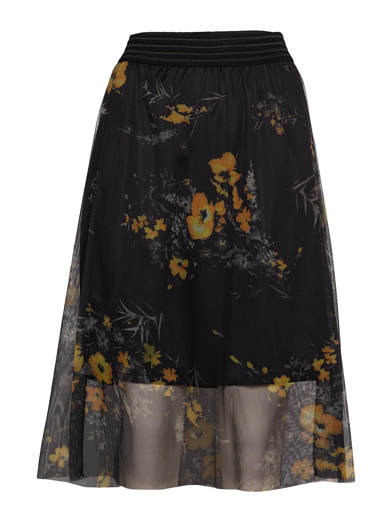 Kaffe KArola Mesh Skirt - BLACK DEEP