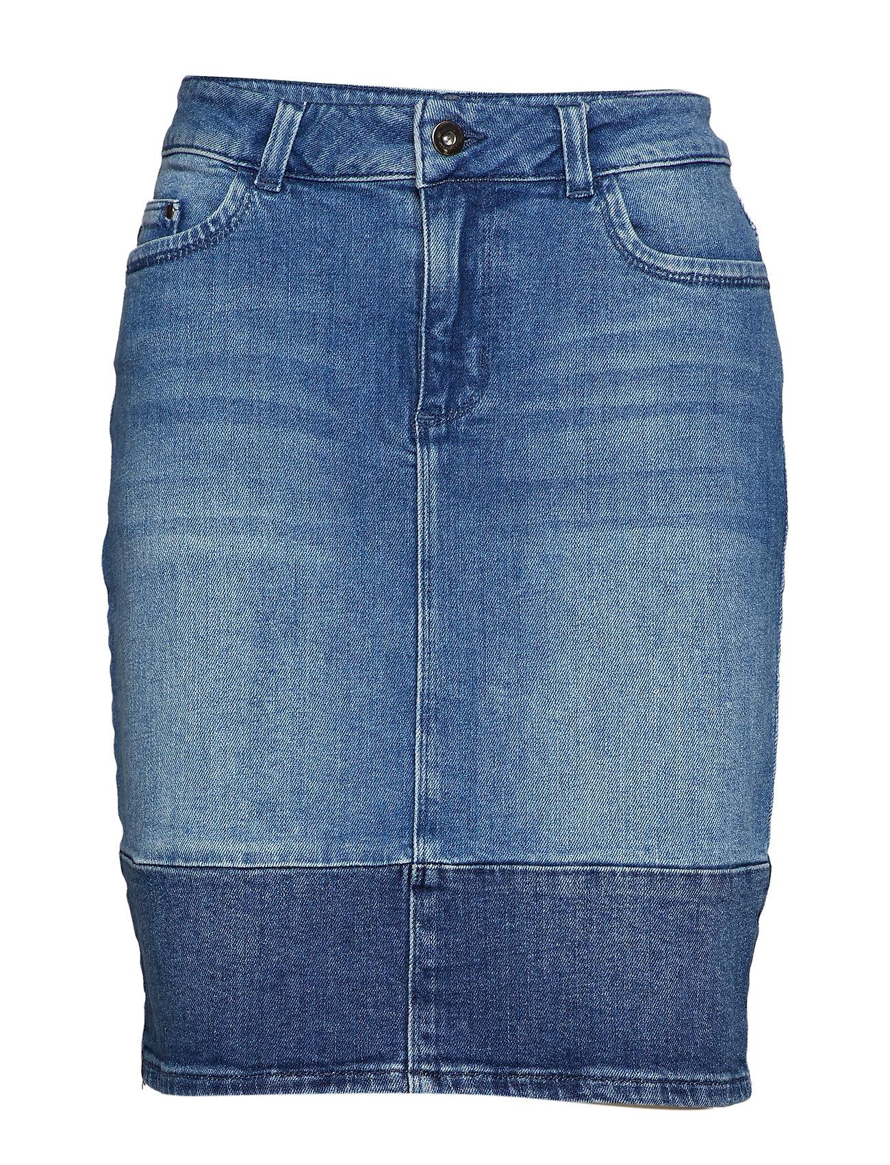 Kaffe KAlida Jeans Skirt - MEDIUM BLUE DENIM