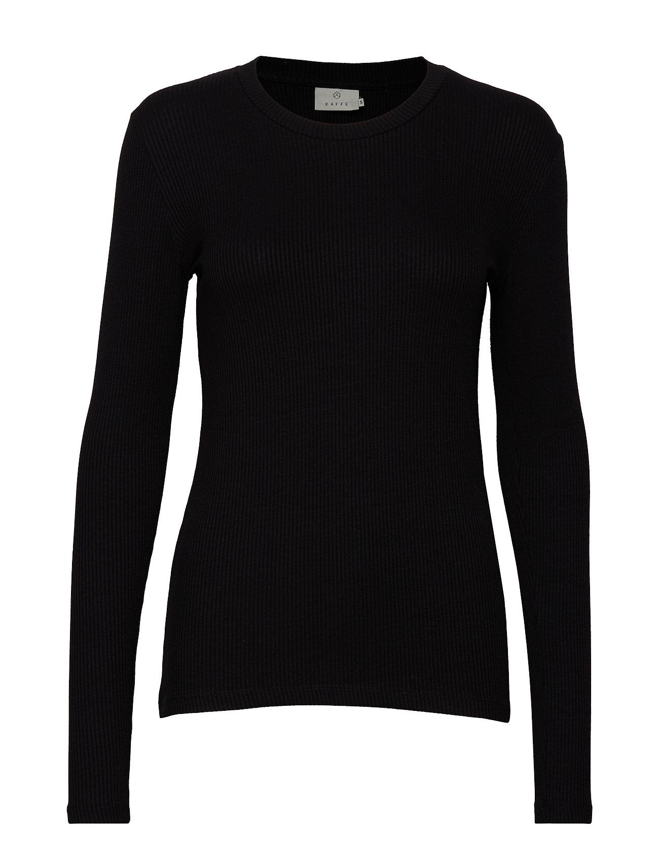 Kaffe KAlia Long Sleeve T-shirt - BLACK DEEP
