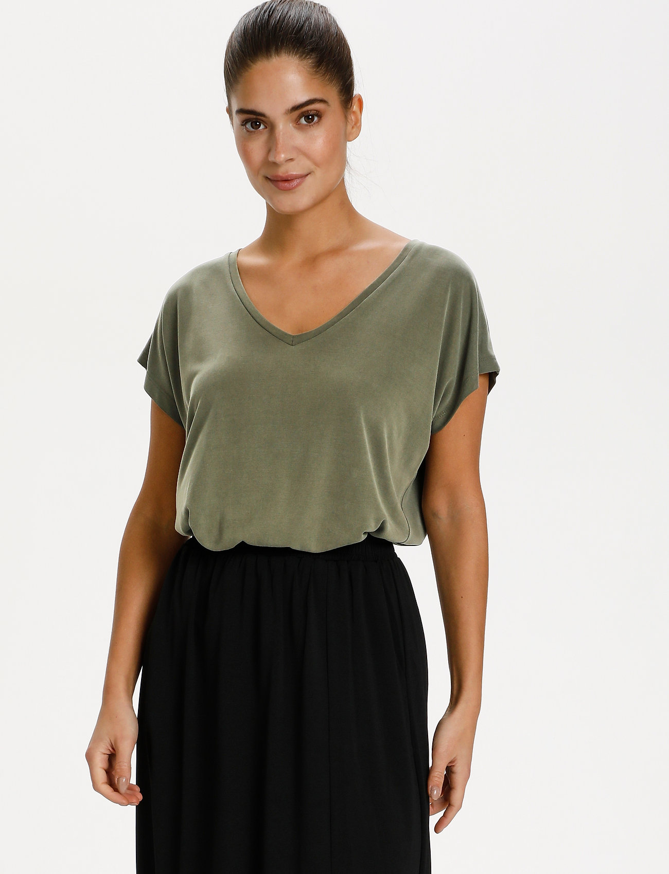 Kaffe - KAlise SS T-shirt - t-shirts - grape leaf - 0