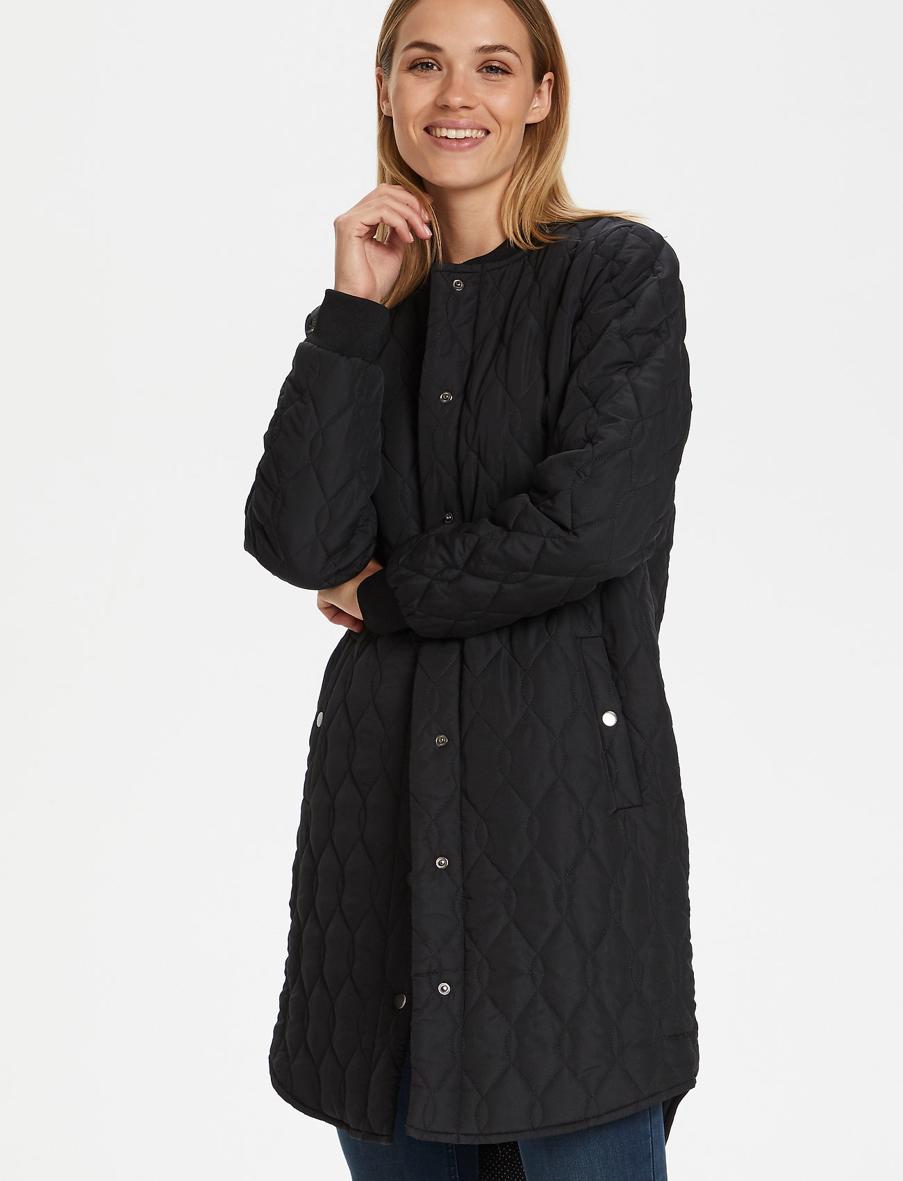 Kaffe - KAshally Quilted Coat - pikowana - black deep - 0