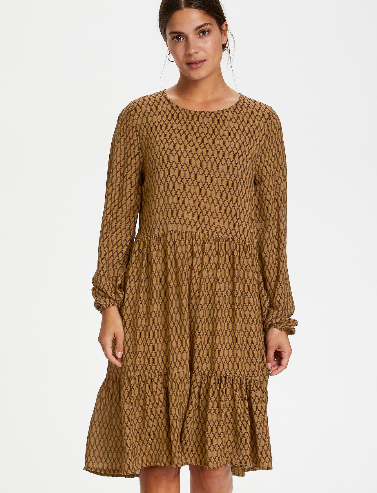 Kaffe - KAcama Amber Dress - hverdagskjoler - thruch -black diamont lines - 0