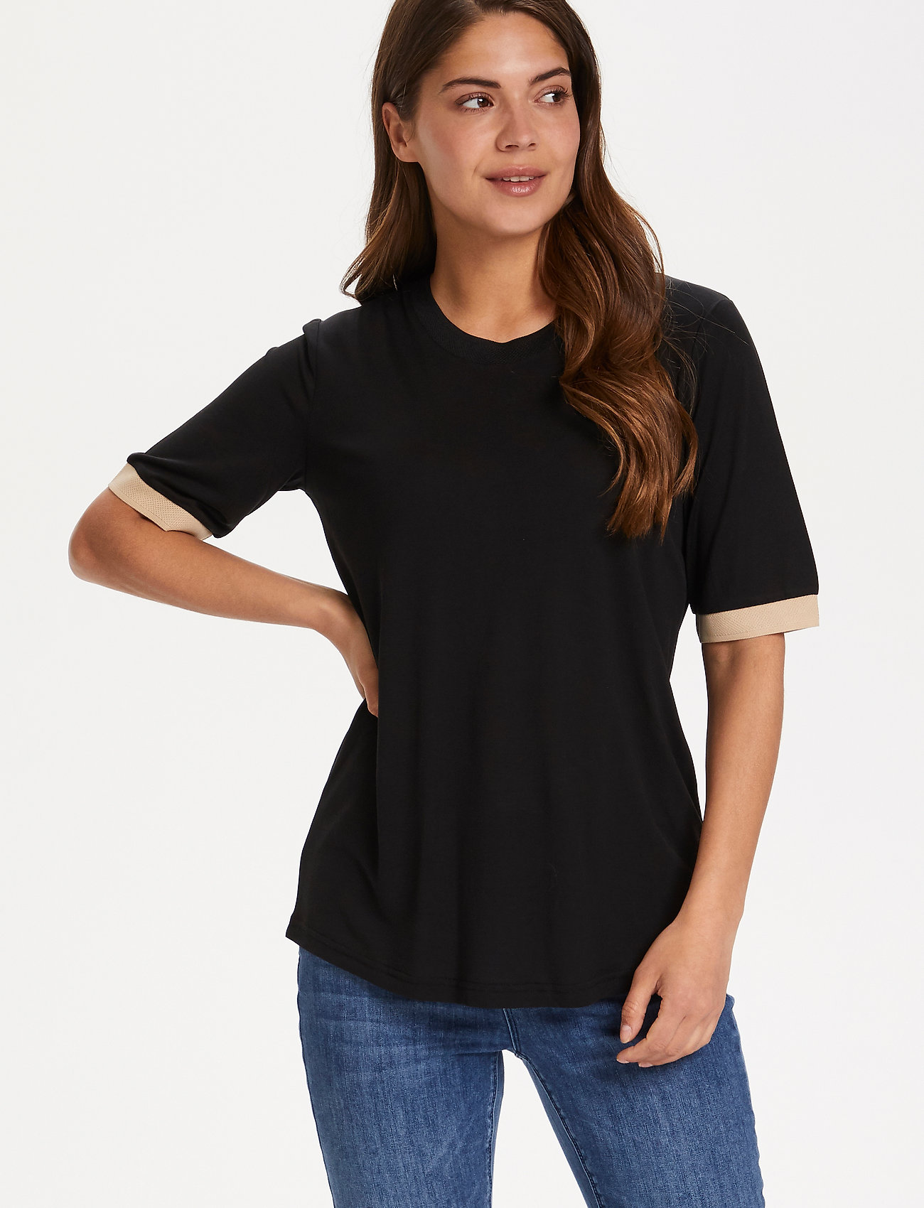 Kaffe - KAclara T-Shirt - t-shirts - black deep - 0