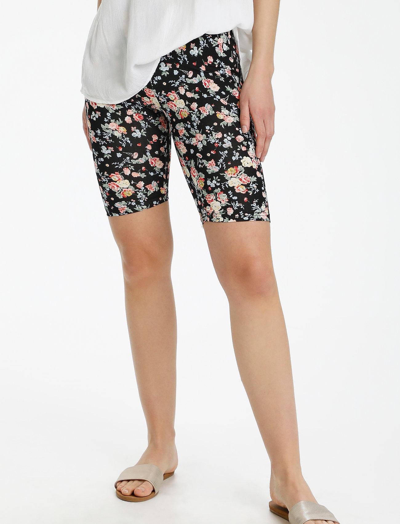 Kaffe - KAanni Jersey Shorts - cykelshorts - pink / blue multi flower - 0