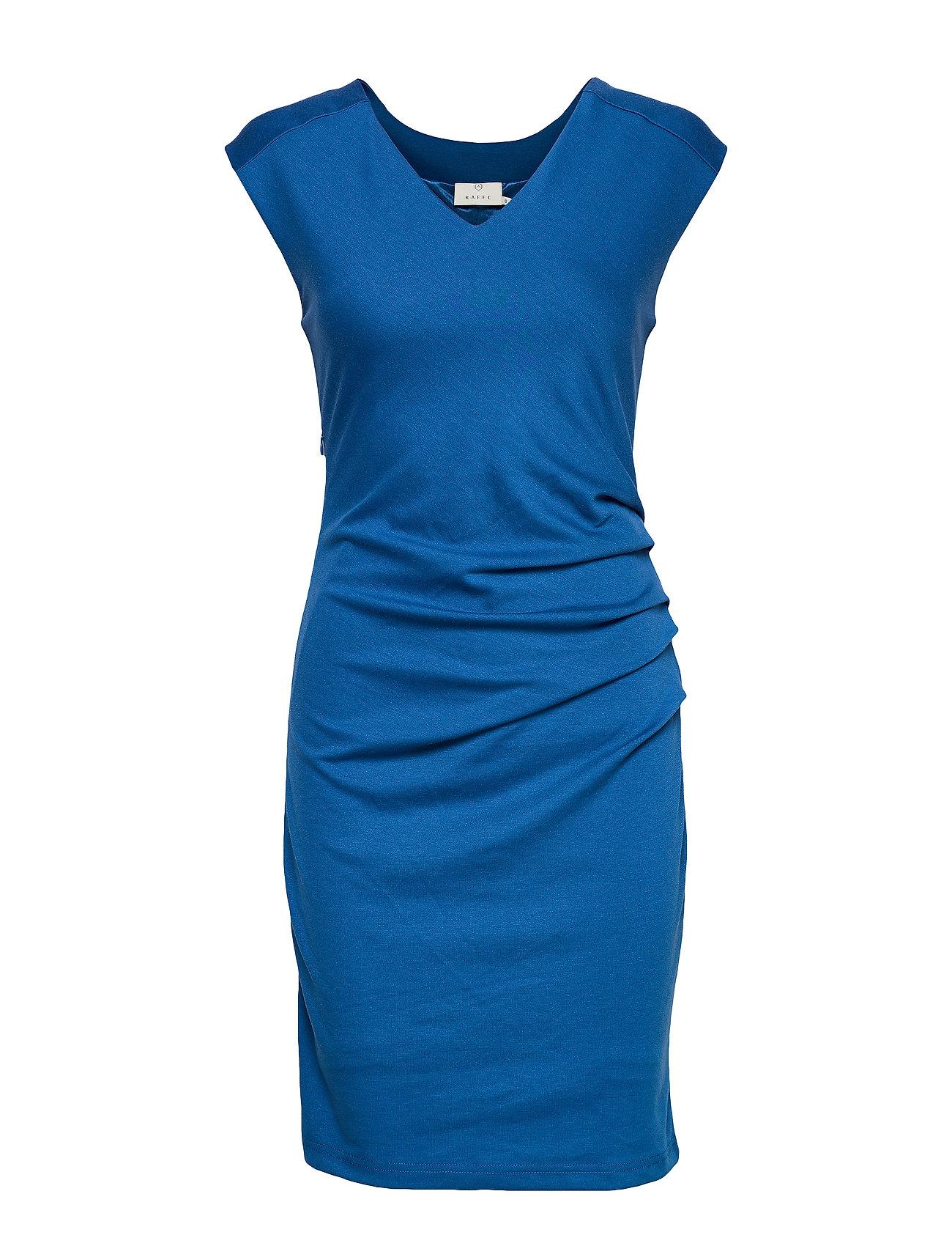 Kaffe India V-Neck Dress - CLASSIC BLUE