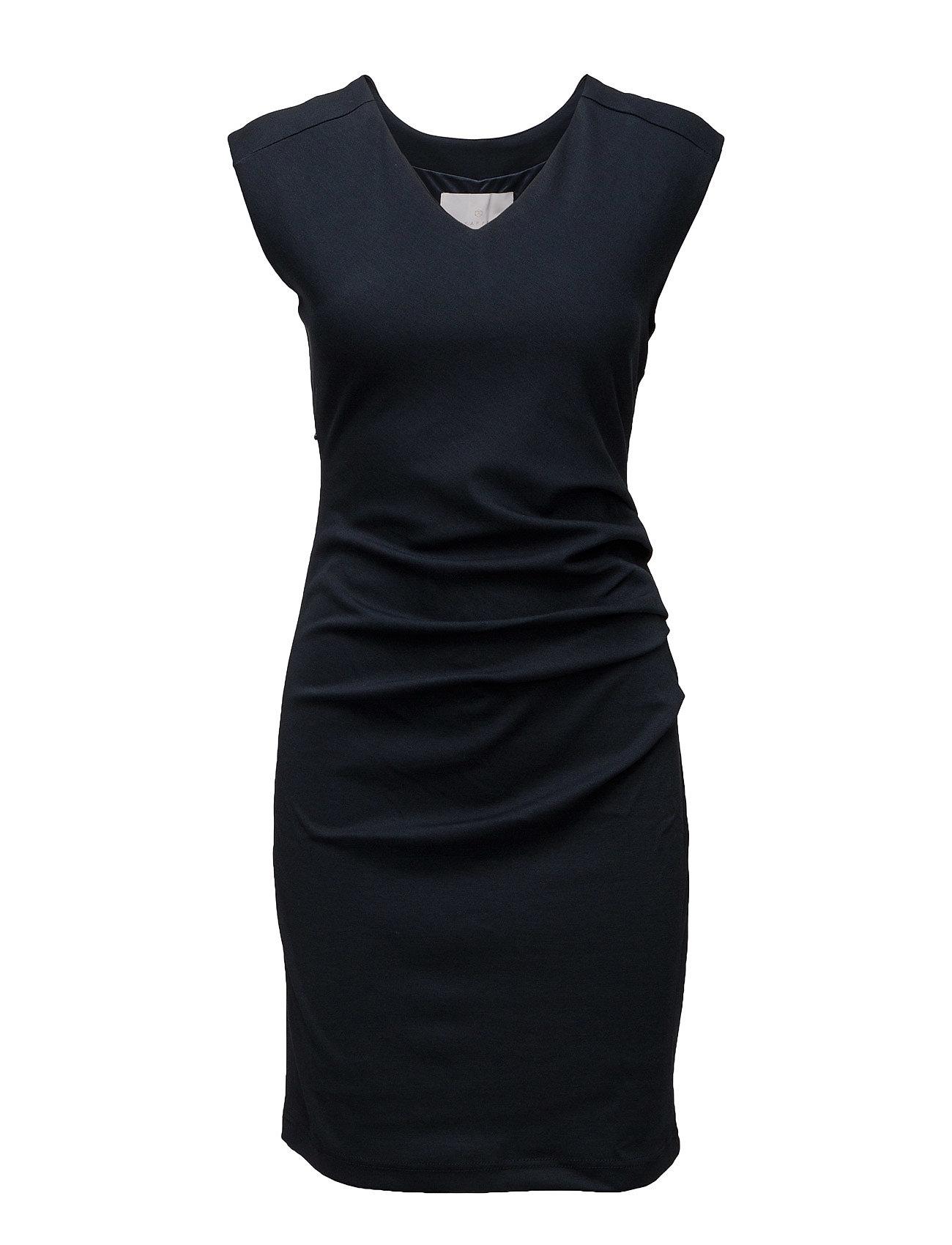 Image of India V-Neck Dress Knælang Kjole Blå Kaffe (2395329751)