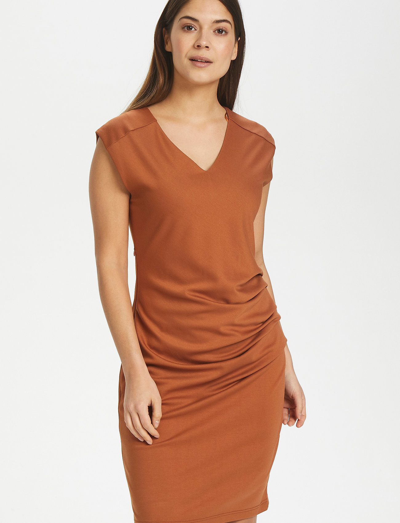 Kaffe - India V-Neck Dress - hverdagskjoler - sierra - 0