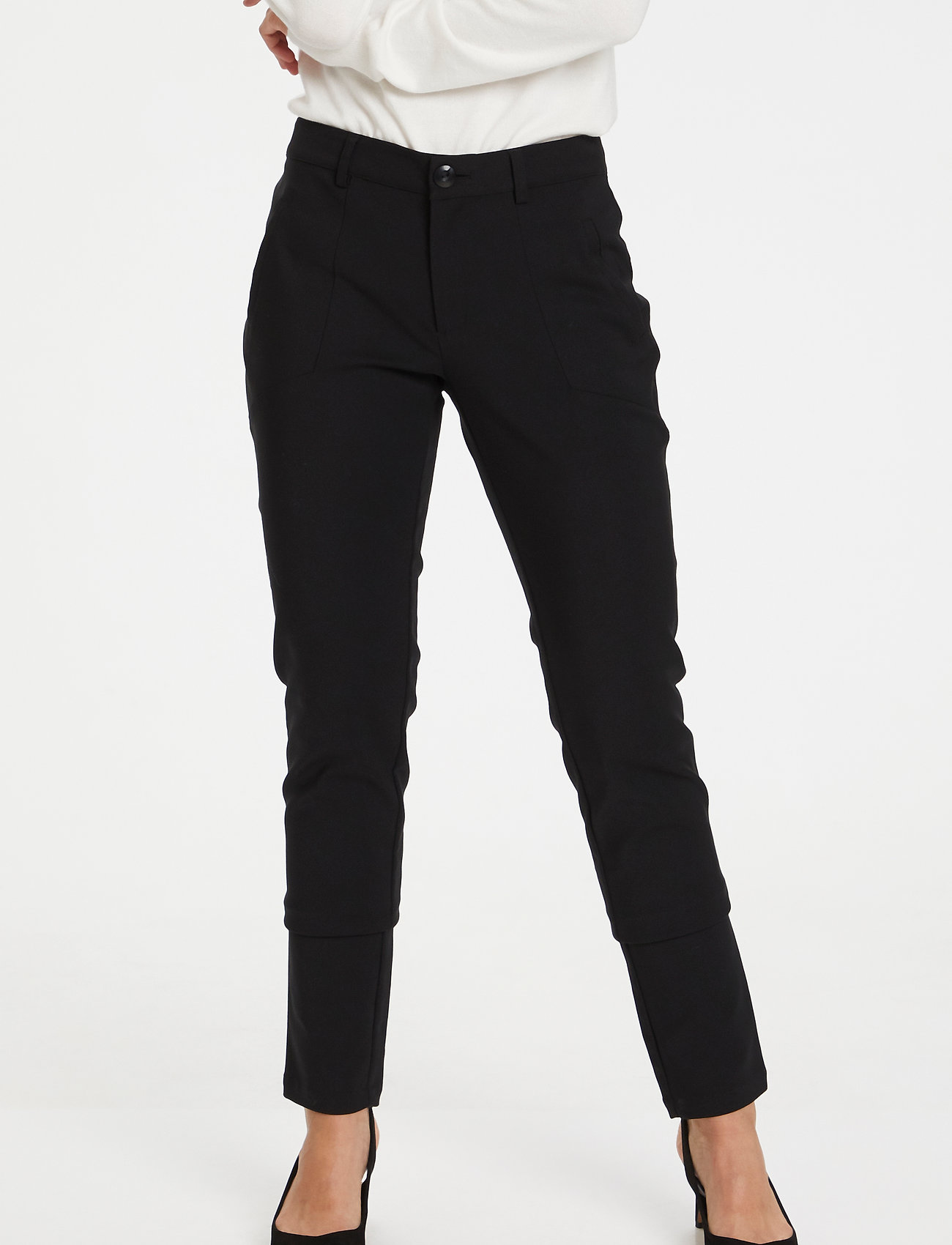 Kaffe - Vera Pant - slim fit bukser - black deep - 0