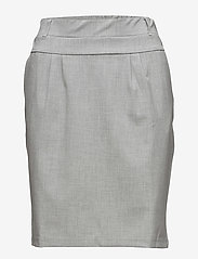 Kaffe - Jillian Skirt - midinederdele - light grey melange - 0