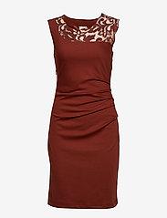Kaffe - India Vivi Dress - midi dresses - cherry mahogany - 0