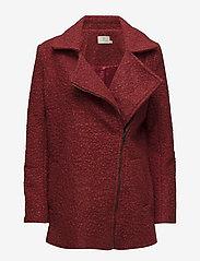 Kaffe - Lulu boucle coat- MIN 4 PCS - wool jackets - sun-dried tomato - 0