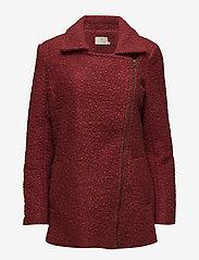Kaffe - Lulu boucle coat- MIN 4 PCS - wool jackets - sun-dried tomato - 1