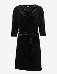 Kaffe - Selba Velvet Dress - robes longeur du midi - black deep - 0