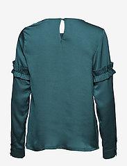 Kaffe - Vitta Blouse - long sleeved blouses - rain forest - 1