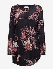 Kaffe - Alicja Amber Tunic - long sleeved blouses - midnight marine - 0