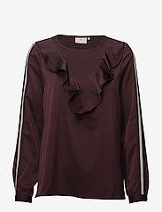 Kaffe - Miranda Blouse - long sleeved blouses - zinfandel - 0
