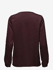 Kaffe - Miranda Blouse - long sleeved blouses - zinfandel - 1