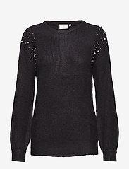 Kaffe - Cammi Rib Knit Pullover - pulls - black deep - 0