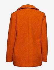 Kaffe - KAbella Boucle Coat Min 4 pcs - wełniane kurtki - burnt orange - 1