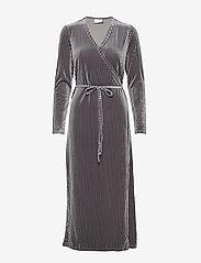 Kaffe - KAviola Wrap Dress - wrap dresses - silver grey - 0
