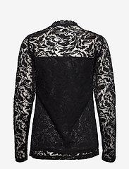 Kaffe - KAvilli Lace blouse - pitkähihaiset puserot - black deep - 1