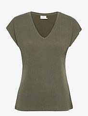 Kaffe - KAlise SS T-shirt - t-shirts - grape leaf - 1