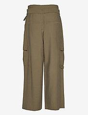Kaffe - KAmargot Cropped Pants - bukser med brede ben - grape leaf - 1
