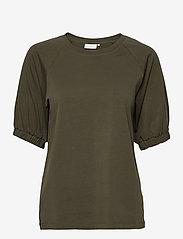 Kaffe - KAdana Linda Blouse - t-shirts - grape leaf - 1