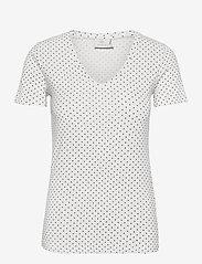 KAemmery T-shirt - CHALK / BLACK DOT