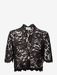 Kaffe - Edda Bolero ½ Sleeve - blouses à manches courtes - black deep - 0