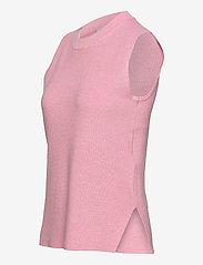 Kaffe - KAmiara Knit Vest - knitted vests - candy pink melange - 2