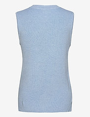 Kaffe - KAmiara Knit Vest - knitted vests - chambray blue melange - 1