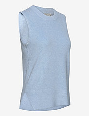 Kaffe - KAmiara Knit Vest - knitted vests - chambray blue melange - 3