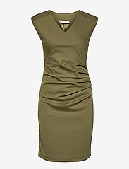 Kaffe - India V-Neck Dress - hverdagskjoler - capulet olive - 1