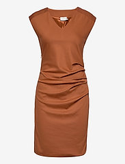 Kaffe - India V-Neck Dress - hverdagskjoler - sierra - 1