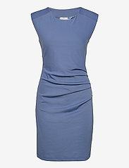 Kaffe - India Round-Neck Dress - midi kjoler - quiet harbor - 0