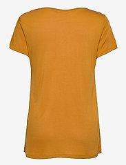 Kaffe - Anna V-Neck T-Shirt - t-shirts - inca gold - 1