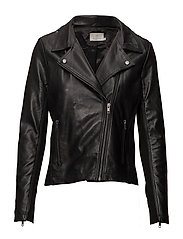 Xenia BikerJacket- MIN 4 pcs. - BLACK DEEP
