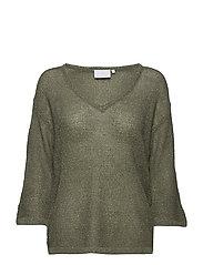 Hally Lurex pullover - DUSTY JADE / GOLD