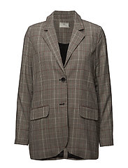 Bess Checked Blazer - BLACK DEEP