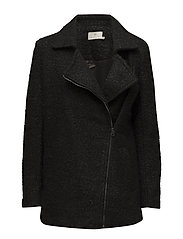 Lulu boucle coat- MIN 4 PCS - BLACK DEEP