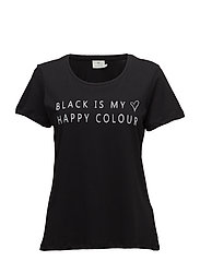 Black T-shirt- MIN 2 - BLACK DEEP