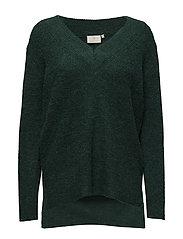 Wenche V-neck Pullover - RAIN FOREST