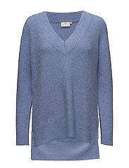 Wenche V-neck Pullover - VISTA BLUE