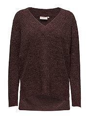 Wenche V-neck Pullover - ZINFANDEL