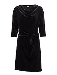 Selba Velvet Dress - BLACK DEEP