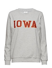 Iowa Sweat Shirt - GREY MELANGE